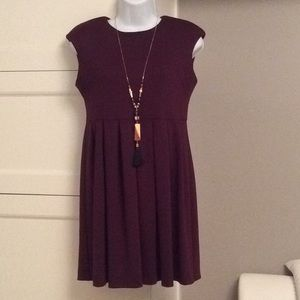 Zara dark red dress